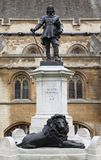 Statue of Oliver Cromwell at Westminster in London. Oliver Cromwell is english revolutionary, regicide and lord protector Royalty Free Stock Photography