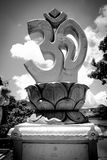 Statue of Om sign Royalty Free Stock Image