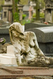 Statue On Cemetery Stock Photo