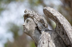 Statue On Grave In The Old Cemetery Stock Photo