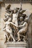 Statue on the Opera Garnier Stock Photos