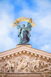 Statue at opera theater in Lviv Royalty Free Stock Image