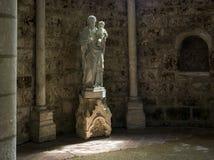 Statue in Orbais Abbaye in Church Royalty Free Stock Photos