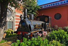 Statue of orient express at Istanbul Turkey Stock Photography