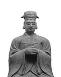 Statue of Oriental nobleman isolated Royalty Free Stock Images