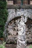Statue near Pelisor castle in Sinaia, Romania royalty free stock image