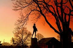 Statue of Orpheus at Fort McHenry, Baltimore Stock Photos