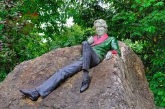 Statue of Oscar Wilde in Dublin. Statue of Oscar Wilde in the park in Merrion Square, Dublin, Ireland royalty free stock images