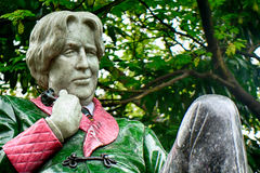 Statue of Oscar Wilde at Merrion Square, Dublin, Ireland. Statue of Oscar Wilde at Merrion Square in Dublin, Ireland royalty free stock image