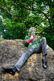 Statue of Oscar Wilde at Merrion Square, Dublin, Ireland. Statue of Oscar Wilde at Merrion Square in Dublin, Ireland royalty free stock photo