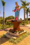 Statue of Our Lady holding baby Jesus on the lap Stock Photography