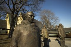 Statue out side of kon titki museum royalty free stock images