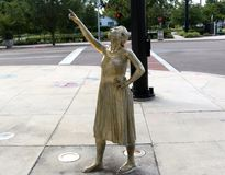 Statue outside the Amway Center, Orlando, Florida Royalty Free Stock Photo