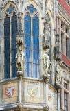 Statue outside, Prague old Town Hall, Czech Royalty Free Stock Photos