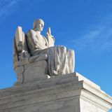 Statue outside Supreme court Royalty Free Stock Photo