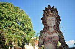 Statue outside a Thai temple stock photography