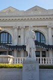 Statue outside Union Station, Worcester, Massachusetts Royalty Free Stock Photos