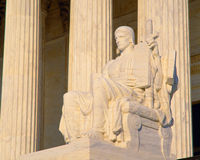 Statue outside US Supreme Court Stock Photography