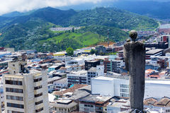 Statue Overlooking Manizales, Colombia royalty free stock images