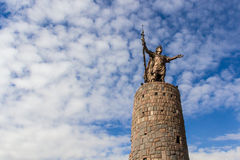 Statue of Pachacutec in Cuzco. Statue of Pachacutec , Inca ruler from 1438–1471, in Cusco's main square Stock Photography