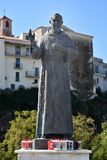 Statue of Padre Pio Pietrelcina in Diamante. Padre Pio Pietrelcina, sculpture of the 2002 canonized saint . Padre Pio is one of the most popular saints in italy royalty free stock images