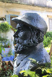 Statue of painter claude monet Stock Images