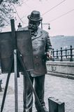 Painting man statue royalty free stock images