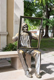 Statue of a painter in front of the Art Gallery, Plovdiv Stock Photography