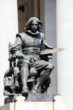 Statue of the painter velasquez, madrid Royalty Free Stock Photos
