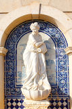 Statue in Palace of Estoi, a work of Romantic architecture Royalty Free Stock Image