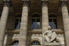 Statue at Palais Brongniart Stock Photography