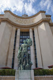 Statue at the Palais de Chaillot Royalty Free Stock Photography