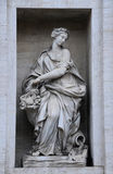 Statue on the Palazzo Poli in Rome Royalty Free Stock Photos