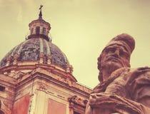 Statue in Palermo Italien stockbilder