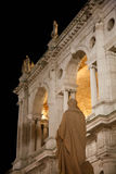 Statue of Palladio and Palladian Basilica Royalty Free Stock Photo