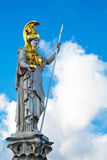 Statue of Pallas Athena Brunnen near Parliament Royalty Free Stock Image