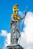 Statue of Pallas Athena Brunnen near Parliament Royalty Free Stock Photos