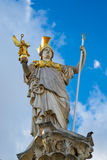 Statue of Pallas Athena Brunnen near Parliament Royalty Free Stock Photography