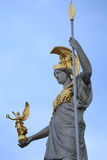 Statue of Pallas Athena in Vienna, Austria Royalty Free Stock Images