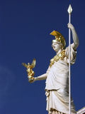 Statue of Pallas Athena in Vienna in front of austrian parliament building Royalty Free Stock Images