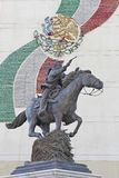 Statue of Pancho Villa on horseback pointing gun. Stock Photography
