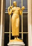 Statue in Paris, France stock photos