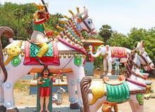 Statue park auroville tamil nadu india Royalty Free Stock Photos