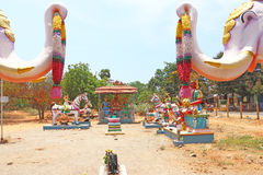 Statue park auroville tamil nadu india Royalty Free Stock Images
