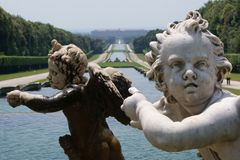 Statue in the Park of Caserta Royal Palace Royalty Free Stock Photo