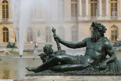 Statue at park of chateau de versailles Royalty Free Stock Photography