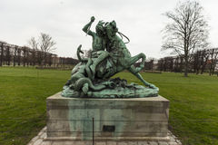 Statue in a park of copenahagen Royalty Free Stock Photos