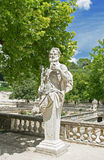 Statue in the park, Nimes, France Royalty Free Stock Photography