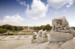 Statue Park Oslo Stock Photo