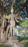 Statue in the park by the river in Siem Reap Royalty Free Stock Image
